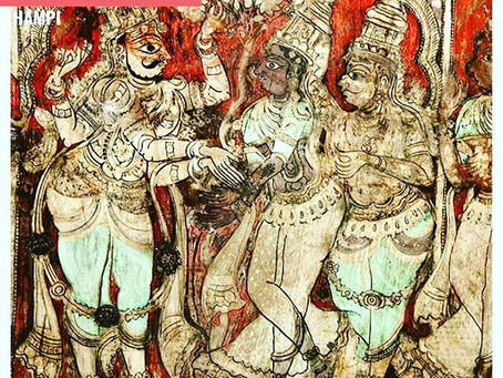 Mesmerised by the 500-year old Virupaksha murals at Hampi!