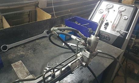 дианостика рулевой рейки на стенде