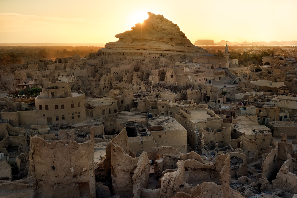 The Shali of Siwa during Sunset