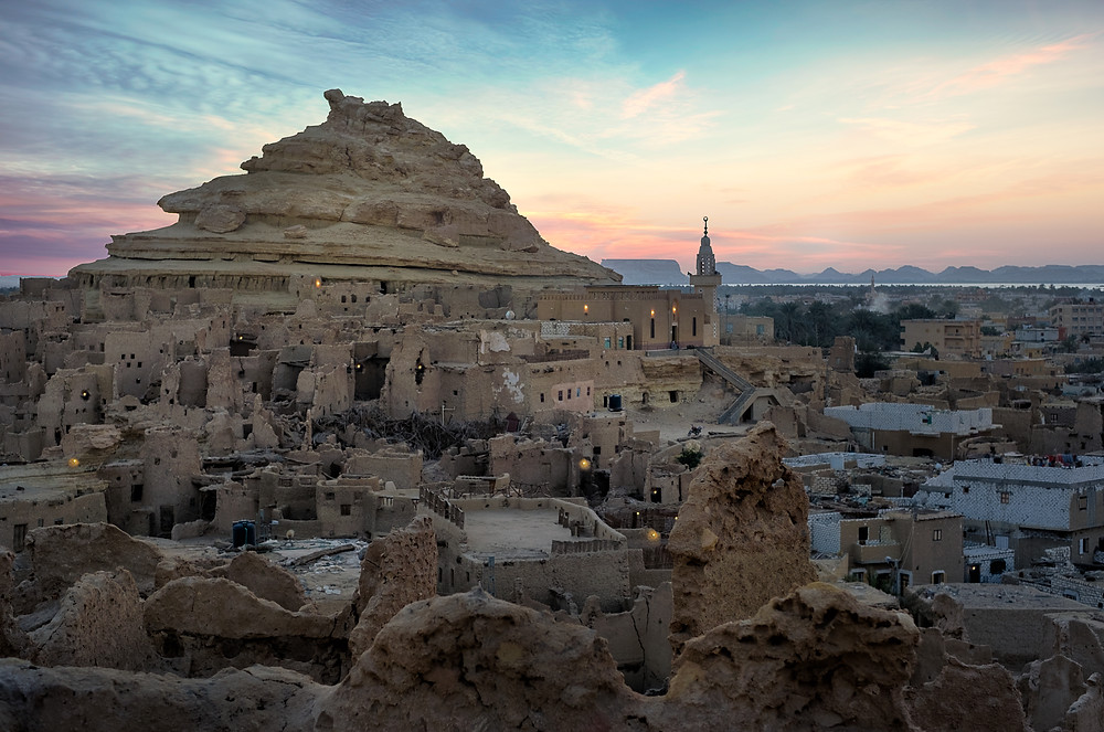 Shali castle of Siwa during sunset