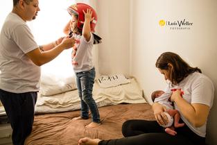 Primeiros dias Samuel e família