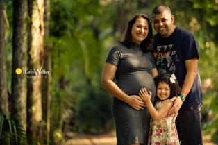 Talita e Sérgio + Maria Clara - à espera de Samuel