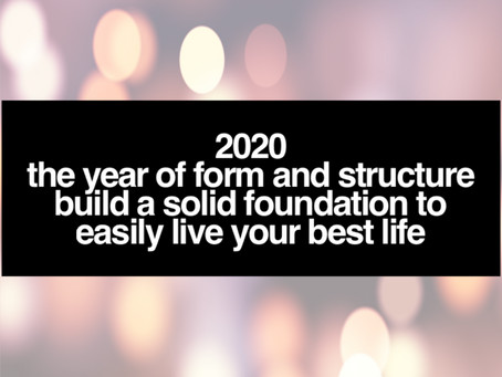 2020 Time To Build New Form And Structure To Create Lasting Change