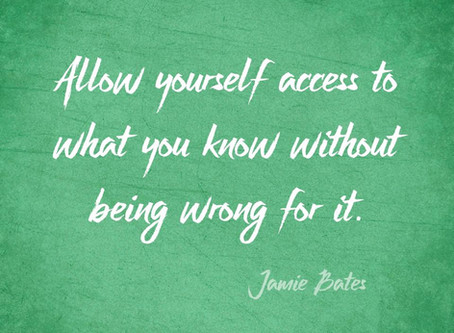 Be Present With What You Know