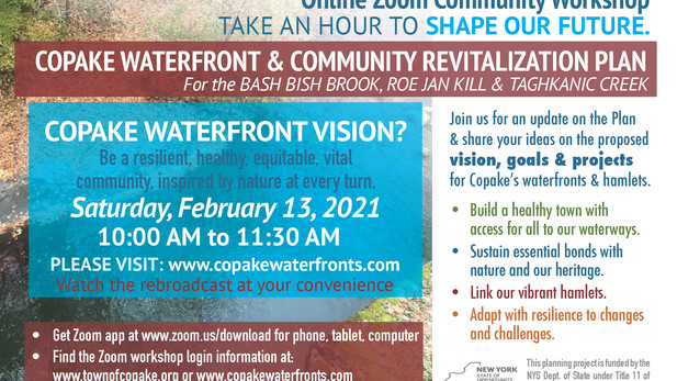 Save the Date! February 13, 2021 Community Workshop