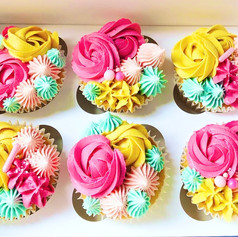 Funky Piped Cupcakes