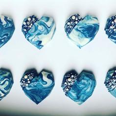 Geo cake hearts.