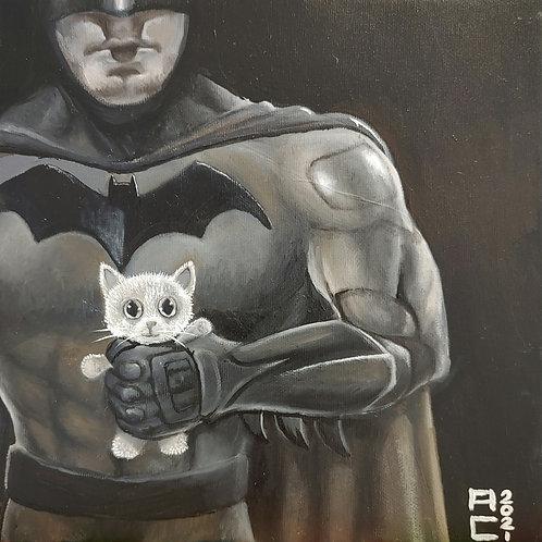 Hero with Kitten