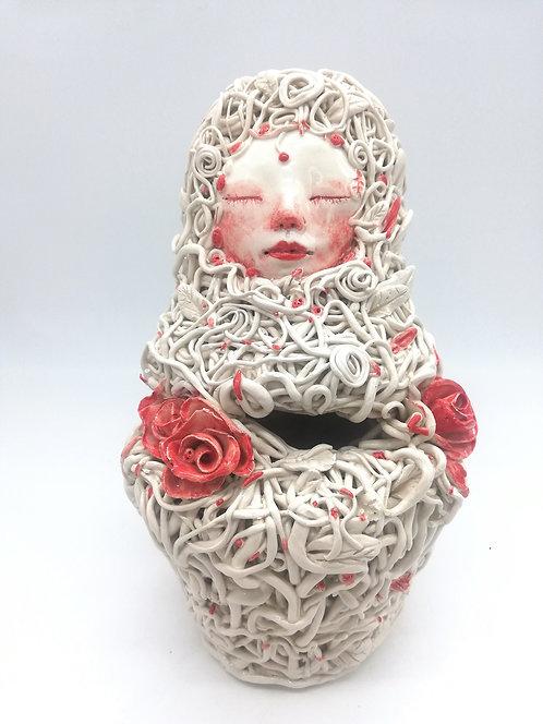 Matrioska con rose