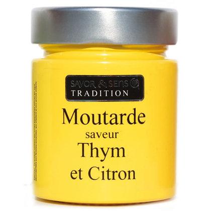 Moutarde saveur thym et citron