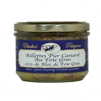 Rillettes Pur Canard au Foie de Canard , 20% Foie Gras de Canard