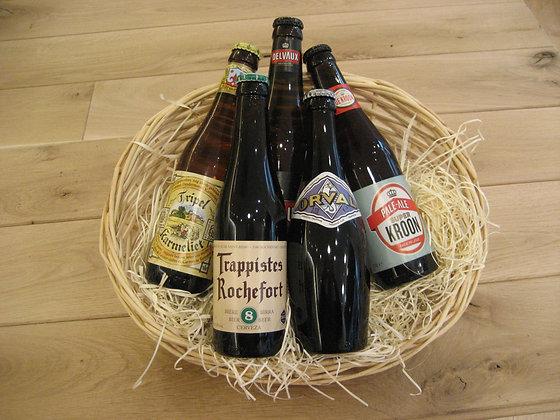 Le panier 5 bières Belge.