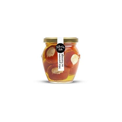 Mini poivrons farcis au fromage crémeux