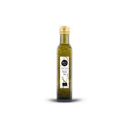 Huile d'olive aromatisée au basilic Biologique