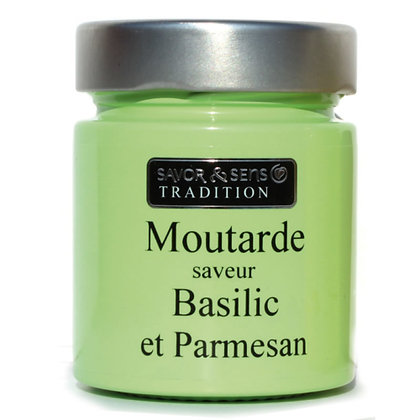 Moutarde saveur Parmesan et basilic