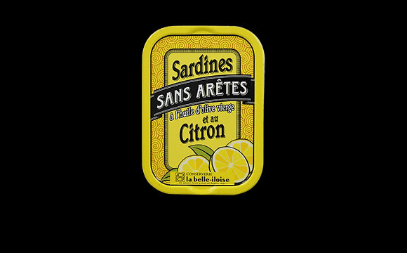 Sardines sans arêtes à l'huile d'olive et au citron