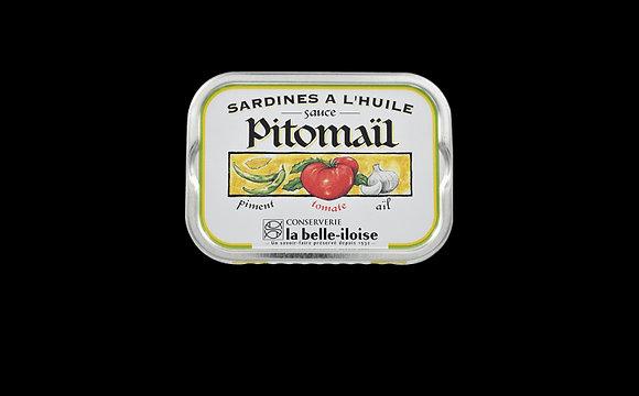 Sardines à l'huile, sauce Pitomaïl
