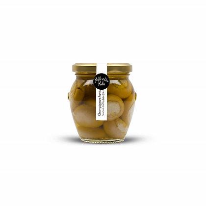 Champignons farcis à la ricotta & truffe d'été