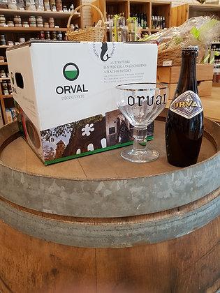 Pack de 10 bouteilles d'Orval de 33cl et son verre. 1 pack par personne