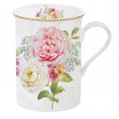 Mug 'Romantic lace', fine bone pors., 250ml