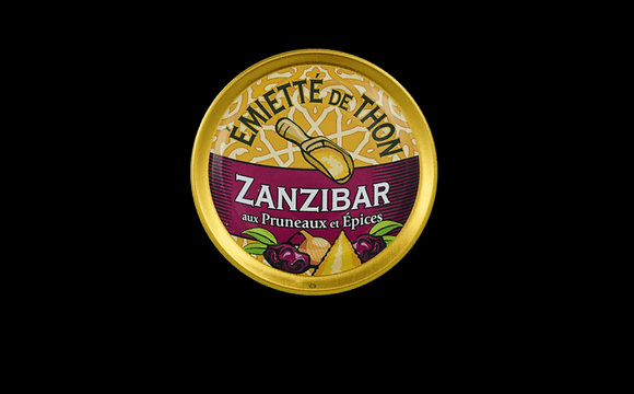 Émietté de thon Zanzibar Aux pruneaux et aux épices..Émietté de thon Zanzibar