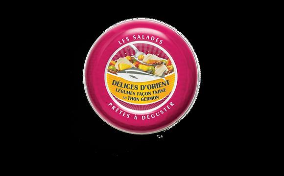 Salade Délices d'Orient, légumes façon tajine au thon germon
