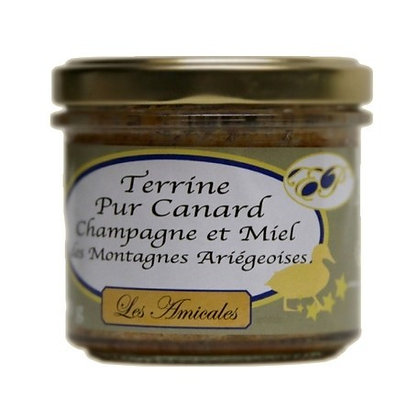 Terrine de canard , Champagne et Miel de nos montagnes Ariégeoises
