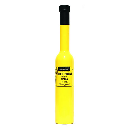Huile d'olive saveur citron thym