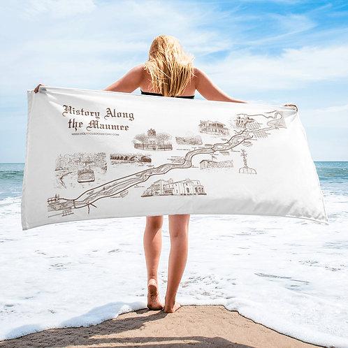 History Along the Maumee Beach Towel