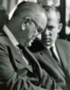 Lud Ashley conferring with President Johnson.