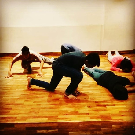 Preparing for abhivyakti 2018 , a theatre production