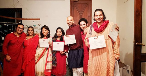 The students that graduated from the alaya arts based therapy course