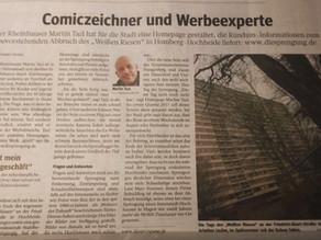 """WAZ: """"Comiczeichner und Werbeexperte"""" (2016)"""