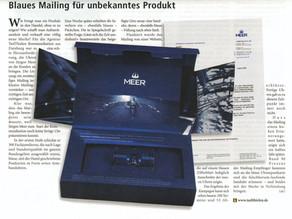 """(2005) Deutsche Post Direkt: """"Blaues Mailing für unbekanntes Produkt"""""""