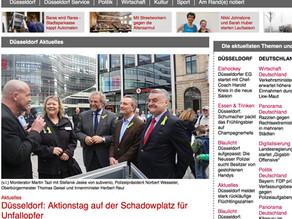 """report-D: """"Aktionstag auf dem Schadowplatz für Unfallopfer"""""""