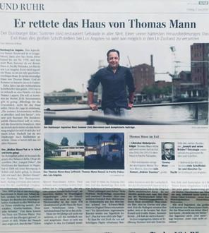 WAZ, 7.6.2019: Duisburger rettete das Haus von Thomas Mann