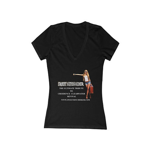 Official Sweet Hitch-Hiker Women's Short Sleeve Deep V-Neck Tee