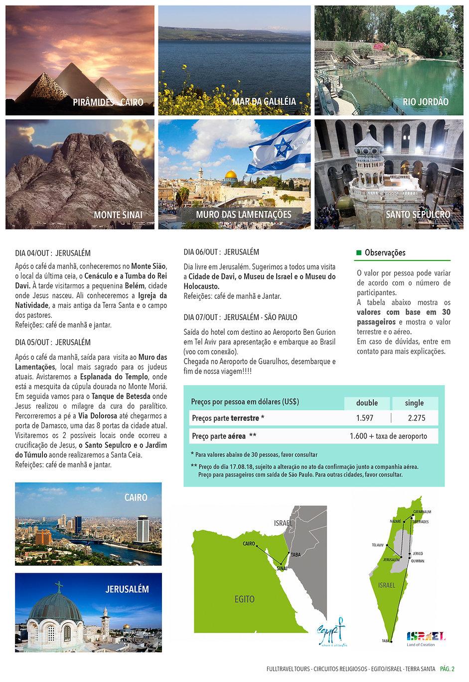 Roteiro Egito Israel - Caravana Transbra