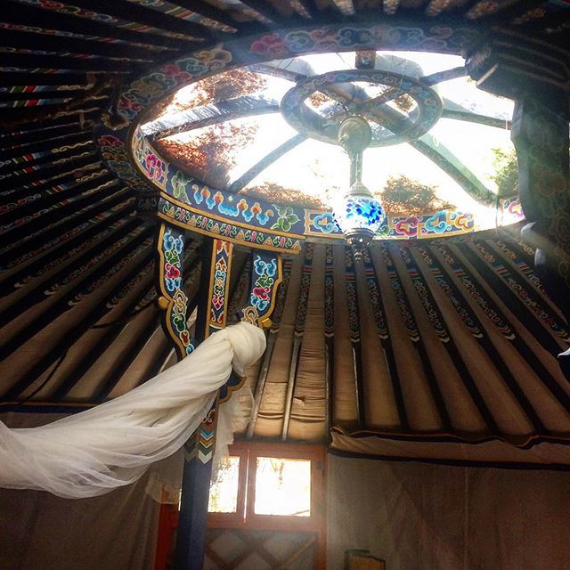 Details of my yurt's roof △_•__Like wind