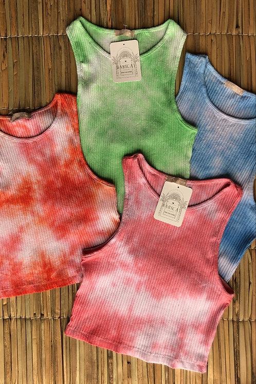 Top Crop Tie-Dye Paty