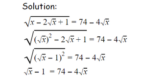 Solving Equations with Square Roots