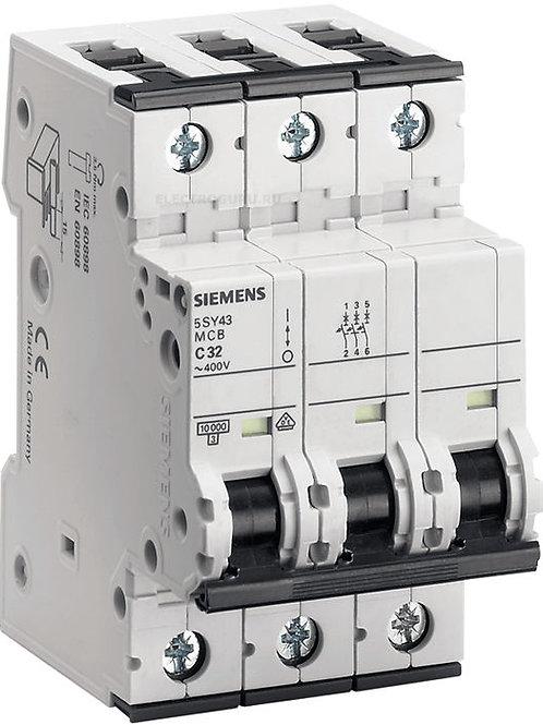 5SY4350-7 - Миниатюрный автоматический выключатель 50А 400В 10 кА C, Siemens