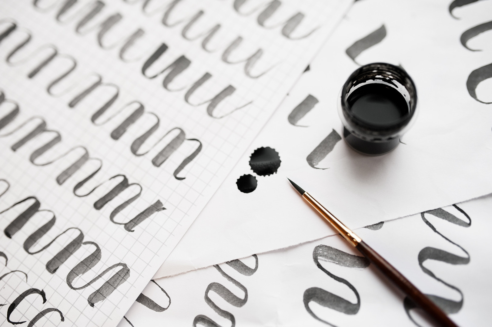 059841069-learning-calligraphy-paper-exa
