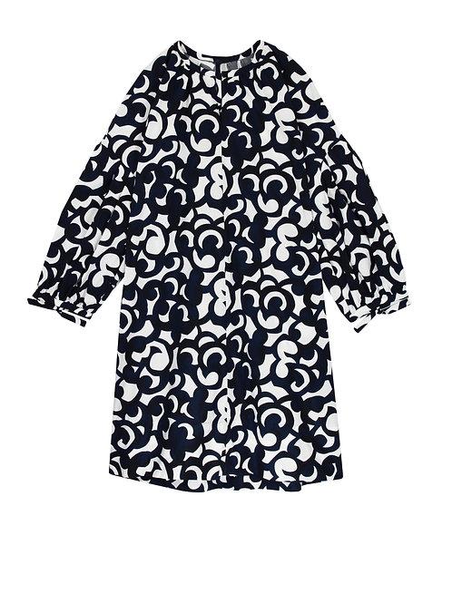 Robe en popeline de coton