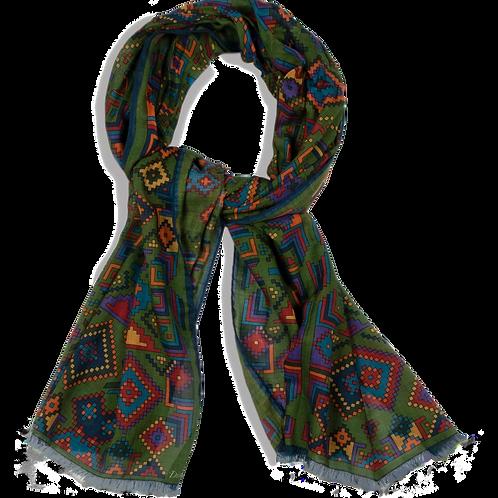 Foulard anglais à motif coloré