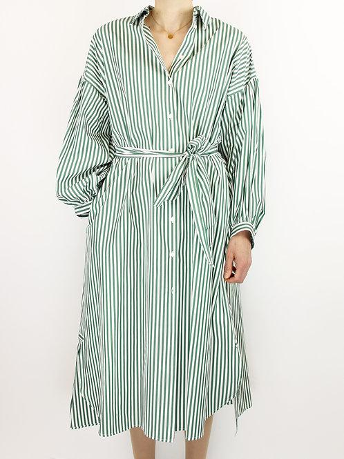 Robe chemise rayée en popeline de coton de MAX MARA