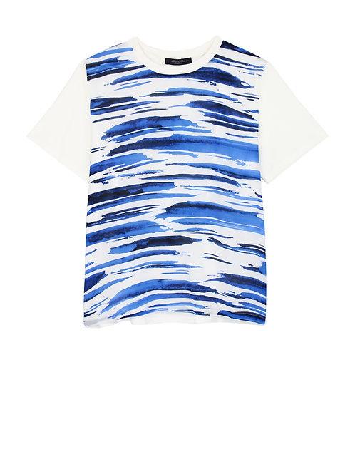 T-Shirt coton et soie imprimé de MAX MARA