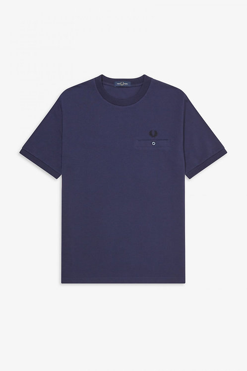 T-Shirt Fred Perry Pocket detail pique