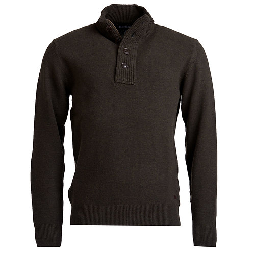 Pull col bouton Barbour