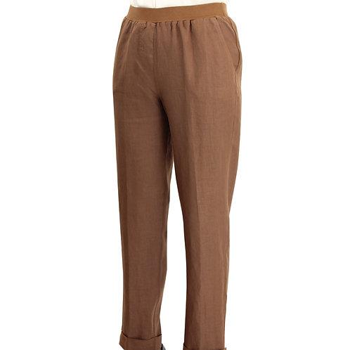 """Pantalon """"Nora"""" en lin élastiqué"""